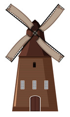 A Windmill on White Background