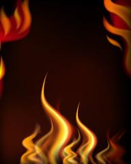 A Hot Fire Frame Tempate