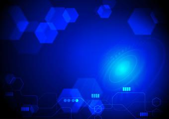 Technology background concept on dark blue