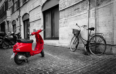 Papiers peints Scooter Street in Rome