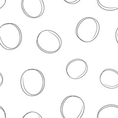 Hand drawn scribble circles line sketch icon seamless pattern background. Business concept vector illustration. Circular scribble doodle symbol pattern.