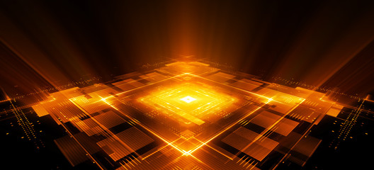 Information CPU engineering..Modern technology. Computer communications. Light effect. Big data center. .Super system. Smart core. Research and development. Virtual reality.
