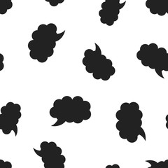 Blank empty speech bubble icon seamless pattern background. Business concept vector illustration. Dialogue box symbol pattern.