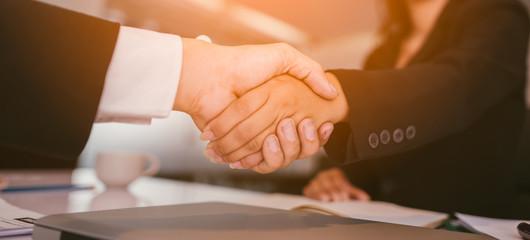 handshake business in office