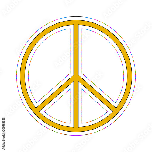 Isolated Colored Peace Symbol Stock Image And Royalty Free Vector