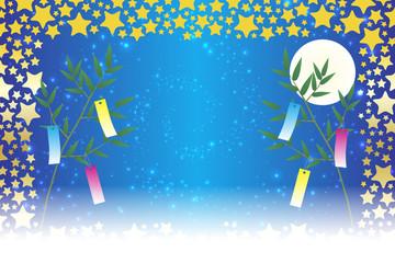 背景壁紙,和風素材,七夕祭り,飾り,伝統,短冊,笹の葉,初夏の行事,星屑,天の川,星屑,キラキラ,七月