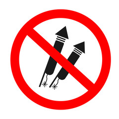 no fireworks vector icon