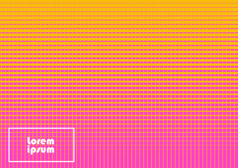 Horizontal abstract background with halftone pattern in fluorescent colors. Gradient texture with rectangle elements ornament. Design template of flyer, banner, cover, poster in A4 size. Vector