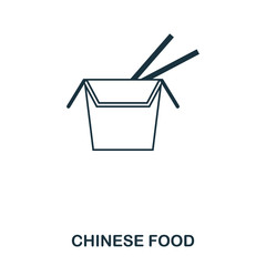 Simple outline Chinese Food icon. Pixel perfect linear element. Chinese Food icon outline style for using in mobile app, web UI, print.