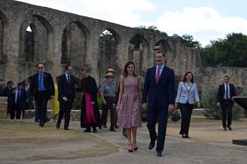 Spain's King Felipe and Queen Letizia visit the San Antonio Missions in San Antonio Texas