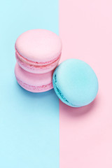 Sweets. Colorful Macaroons Background