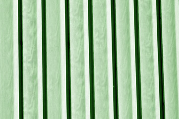 Plastic siding wall texture in green tone.