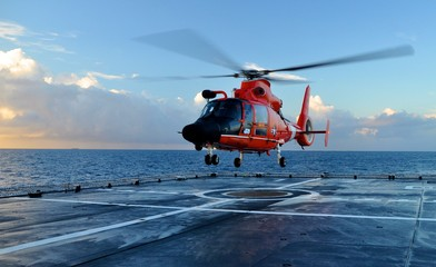 Printed roller blinds Helicopter Coast Guard Landing