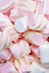 Marshmallows Candies On Background