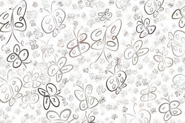 Abstract butterfly illustrations background. Cartoon, template, digital & sketch.