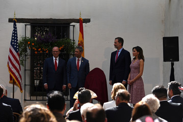Spain's King Felipe and Queen Letizia visit the Spanish Governor's Palace in San Antonio, Texas