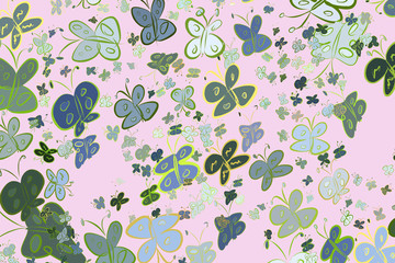 Butterfly illustrations background abstract, hand drawn. Texture, backdrop, surface & pattern.