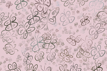 Butterfly illustrations background abstract, hand drawn. Canvas, concept, drawing & nature.