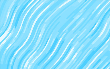 Light Blue pattern with wavy lines. Modern minimalist design. Vector illustration