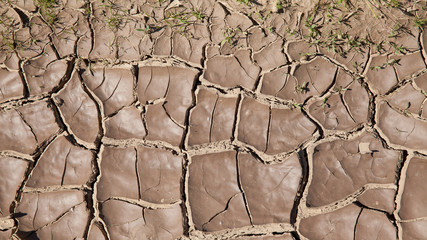 a dry land with cracks