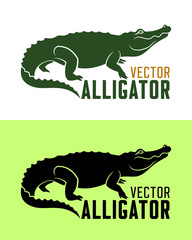 Alligator silhouette vector illustration