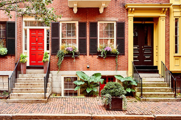 Foto auf AluDibond Vereinigte Staaten Street at Beacon Hill neighborhood, Boston