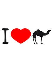 herz liebe i love kamel silhouette umriss schwarz dromedar höcker wüste zoo