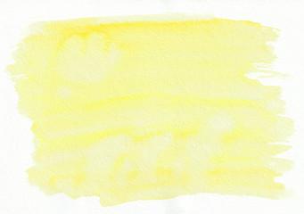 Sun yellow horizontal  watercolor  gradient  hand drawn  background.