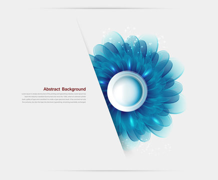 Vector Illustration blue flowers