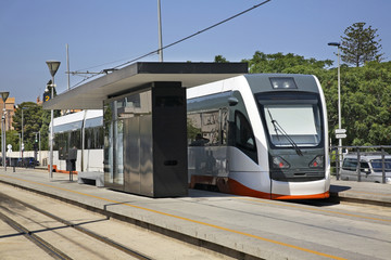 Railway station in Villajoyosa. Province of Alicante. Spain