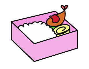弁当角型ケチャップ(ピンク)