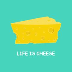 cartoon piece of cheese