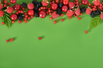 fruits berries in the background