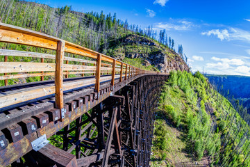 Fotorollo Bridges Historic Trestle Bridge at Myra Canyon in Kelowna, Canada