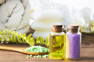 bath mineral salts and oils, spa products