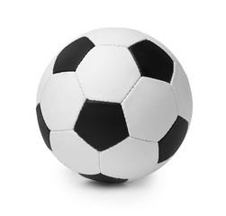 New soccer ball on white background. Football equipment