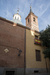 Medieval Building of Church of San Nicolas in City of Madrid, Spain