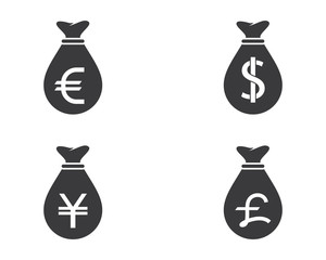 Currency symbol illustration design