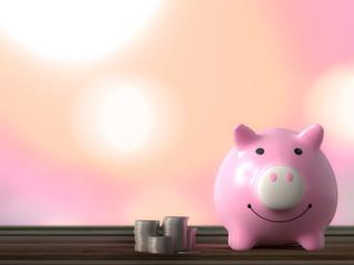 piggy bank pink color