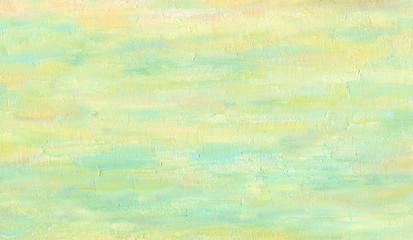 Fototapeta Pale yellow and orange background. Uniform texture. Sea sandy beach. Oil painting.