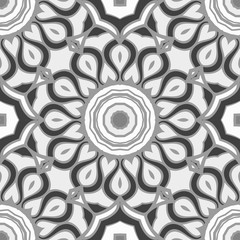Unique, abstract floral color pattern. Seamless vector illustration. For design, wallpaper, background
