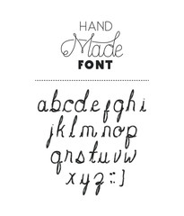 hand made font alphabet vector illustration design