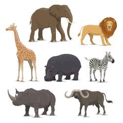 African safari animal icon of wild savanna mammal