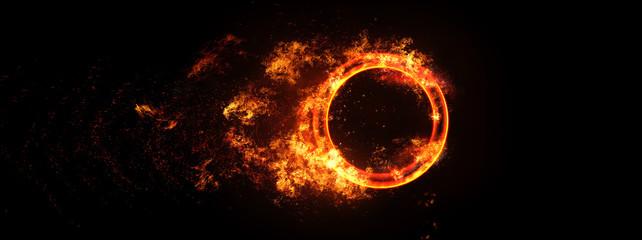 炎に包まれた図形