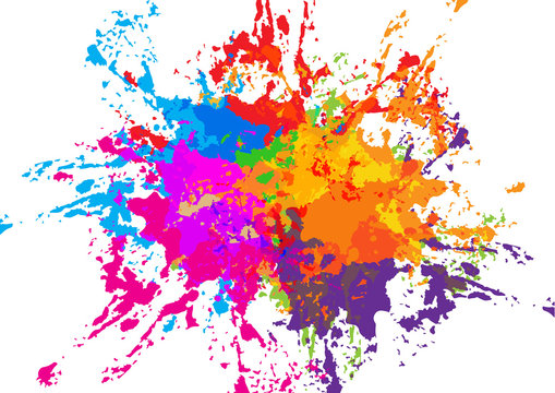 abstract vector splatter colorful background design. illustration vector design