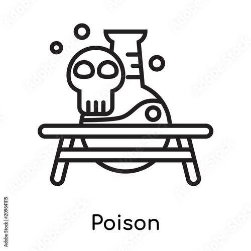 Poison Icon Vector Sign And Symbol Isolated On White Background