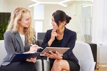 Interracial business women team