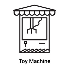 Toy Machine icon vector sign and symbol isolated on white background, Toy Machine logo concept, outline symbol, linear sign