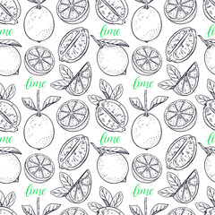 seamless background of limes