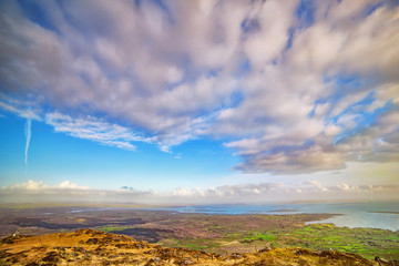 Fotobehang Lavendel Beautiful panoramic landscape in a county Kerry